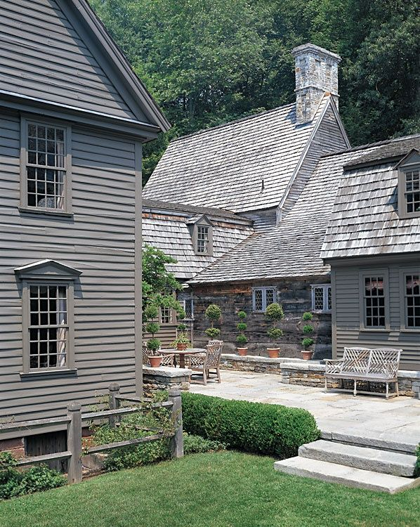 561 best images about colonial homes on pinterest connecticut saltbox houses and early american for Colonial revival stone exterior paint