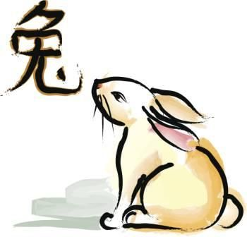 Traditional chinese rabbit tattoo