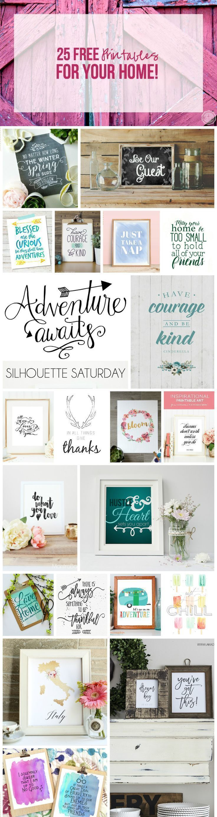 25 FREE Printables For Your Home!