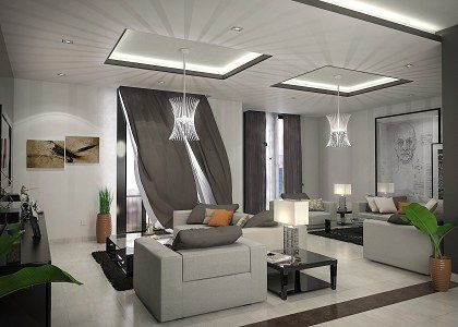 modern living room |mahmoud amer - vray render | sofas - living