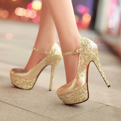 cute gold heels prom pinterest gold heels bridesmaid shoes and bridesmaid. Black Bedroom Furniture Sets. Home Design Ideas