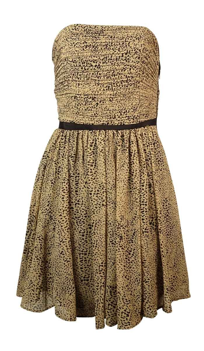 Guess Women's Strapless Cheetah Print Dress