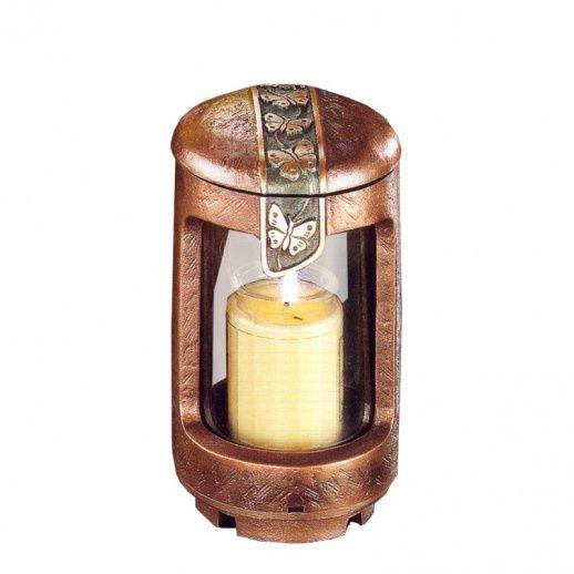 Romantische Grablampe »Stella« mit Schmetterlingen - Hochwertiger Bronzeguss & Handarbeit ✤ Jetzt versandkostenfrei kaufen bei ▷ Serafinum.de !