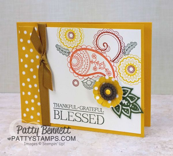Paisleys & Posies, Petals & Paisleys, Paisley Framelits... yep, I was getting my Paisleys, Posies, and Petals all mixed up! If you want to see what I mean, check out pages 46 and 47 in the 2016 Sta