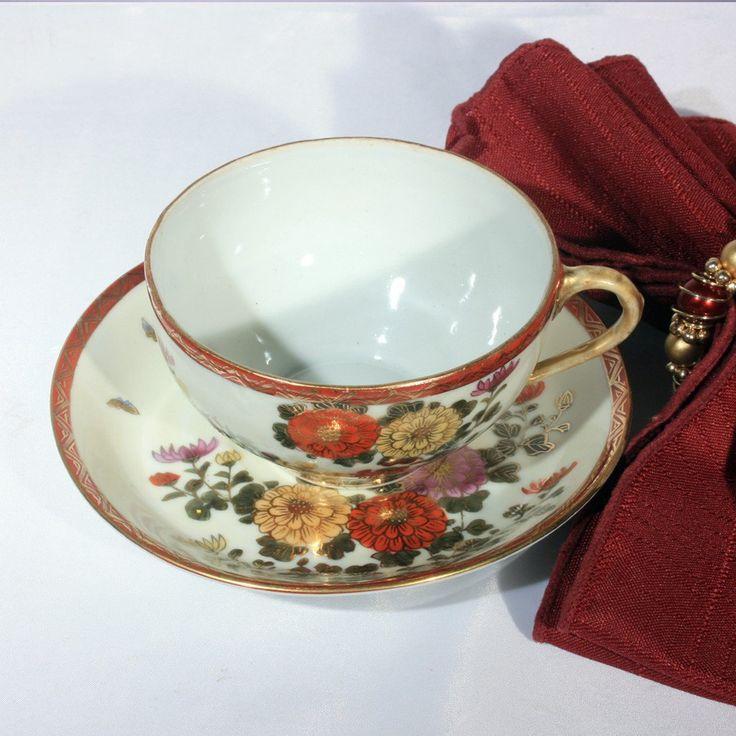 1930s Kutani Tea Cup and Saucer