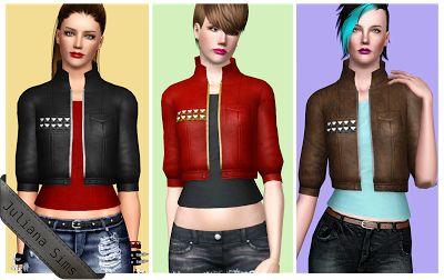 Female Clothes: The Saturday Buzz Jacket - The Sims 3 Custom Content