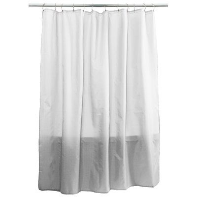 Splash Home Fabric Single Shower Curtain Lace Shower Curtains