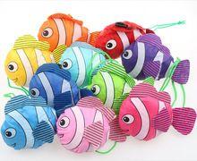 Mic Новый 10 Цвета Тропические Рыбы Складная Эко Многоразовые Сумки 38 см х 58 см GB021(China (Mainland))