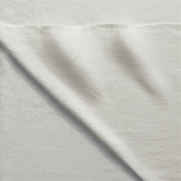 white linen curtain panel   CB2