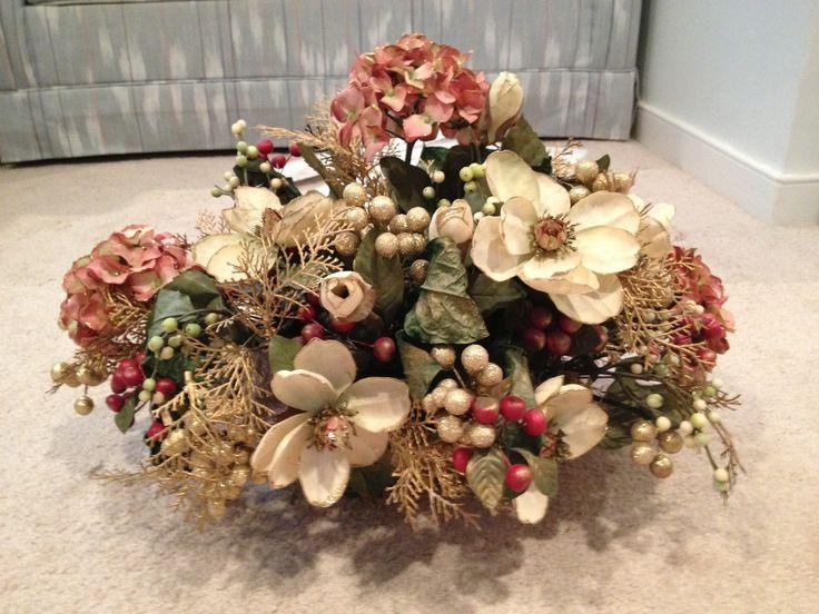 Christmas silk Centerpiece by Carol Jones