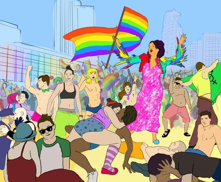 Gay Pride tel aviv 2015. illustratore: Roni Yoffe