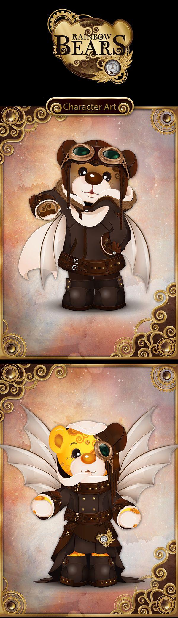 Steampunk bears: character arts