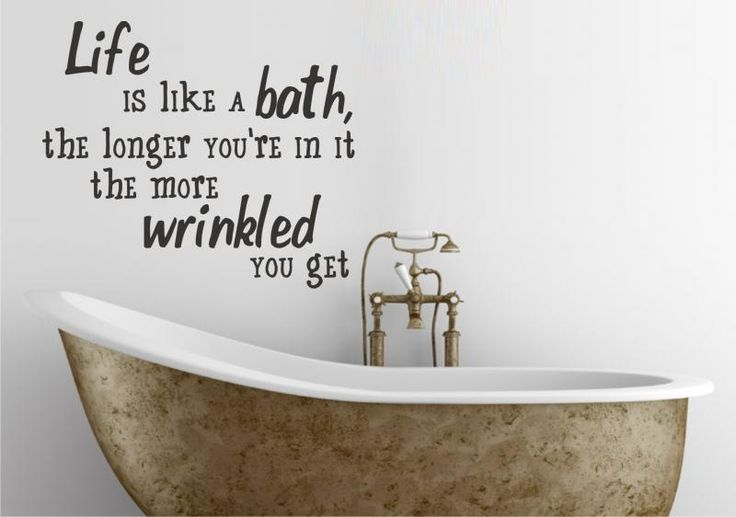 bathroom quote to paint on wall or somehow use household