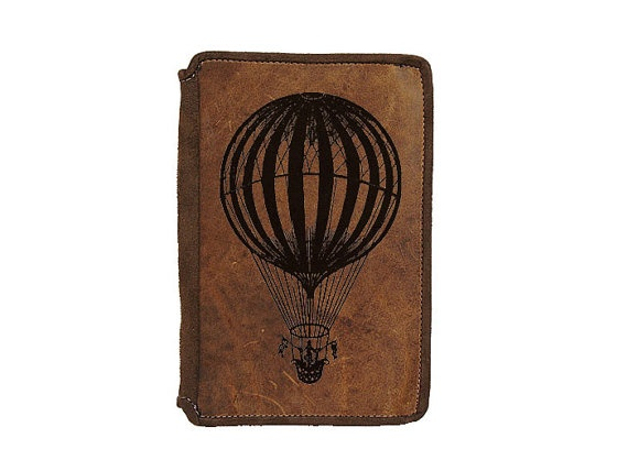 Love the balloon on the front: Kindle Leather, Beloved Kindle, Kindle Covers, Vintage, Leather Cases, Kindle Fire, Cases Hot, Hot Air Balloons, Fire Leather
