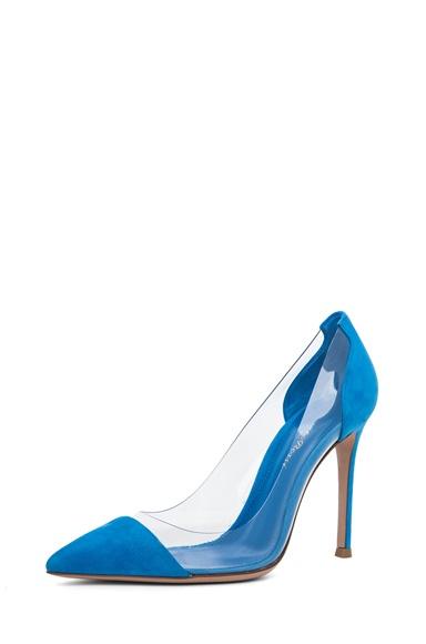 Blue suede Gianvito Rossi's