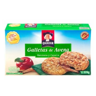 Galletas Quaker  manzana y canela 320 g