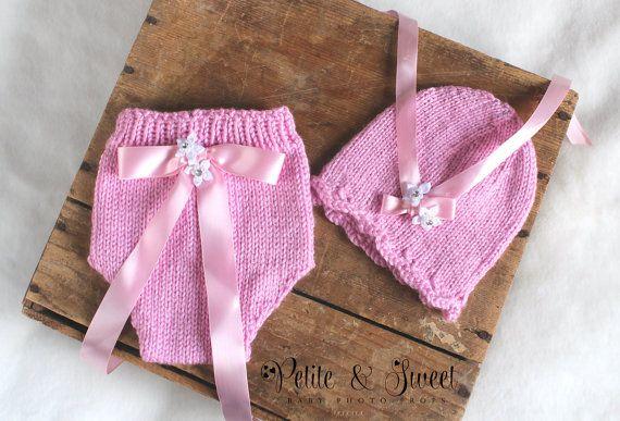 Newborn Knit Pink Diaper Cover