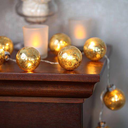 Lights.com | Lit Decor | String Lights | Decorative | Vintage Mercury Warm White Festoon Battery String Lights, Strand of 20