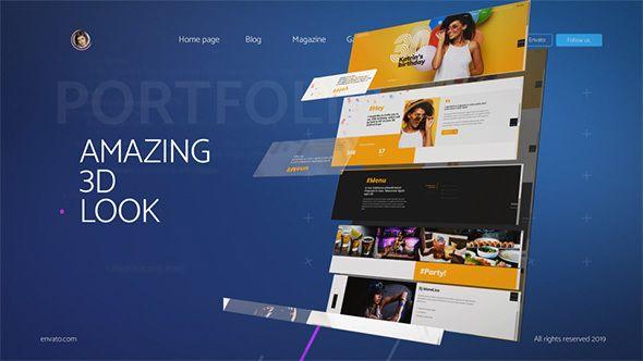 3d Website Presentation Toolkit Presentation Web Design Templates