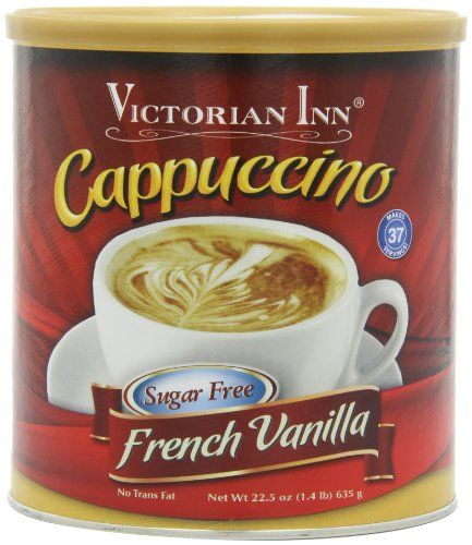 Victorian Inn Instant Cappuccino, Sugar Free French Vanilla, 1.4 Pound *** Click image for more details.