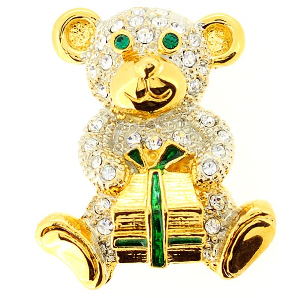 Bear with Gift Pin Brooch