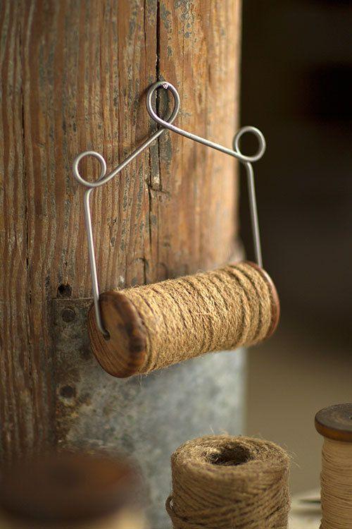 jute spool wire holder
