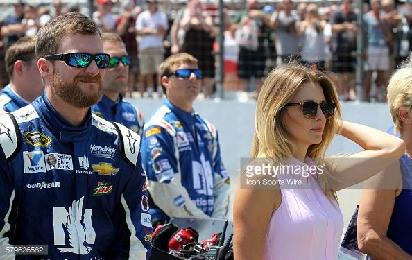 Dale Earnhardt Jr., driver of the Nationwide Chevy and his fianc??... News Photo | Getty Images