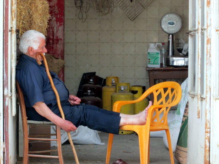 'siesta' time in a Cretan village