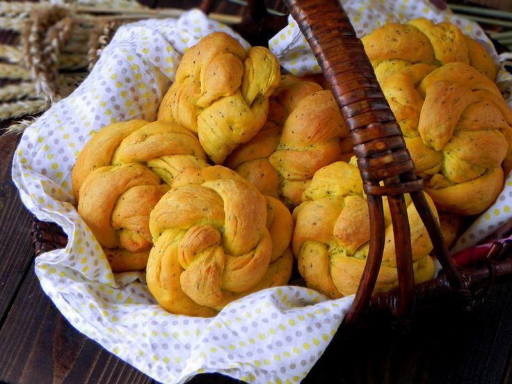 Fabryka Kulinarnych Inspiracji: Bułeczki z dynią i makiem