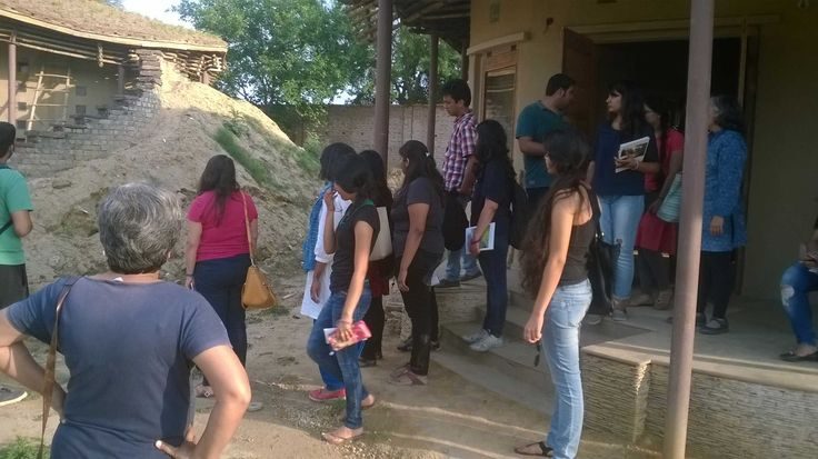 An Architectural Tour; A guided walk by Anuradha; Venue: The Gnostic Centre; Date: 6 April 2015; Participants: students from Sushant school of Architecture