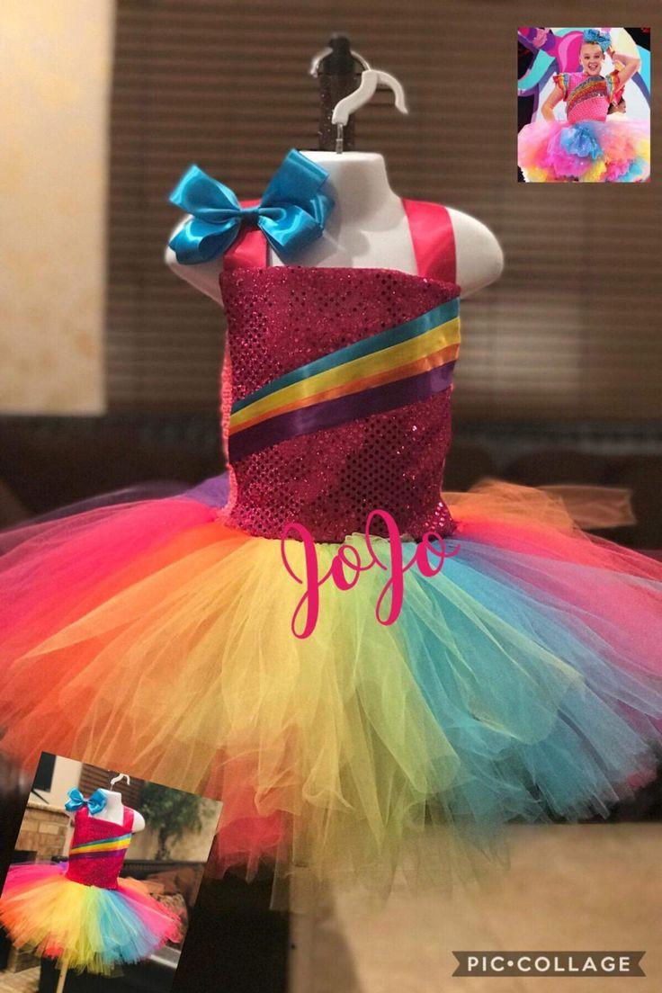 Jojo siwa tutu dress/Rainbow tutu dress/2pcs set/jojo