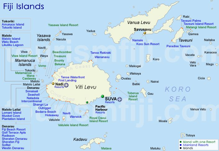 Tavarua island map