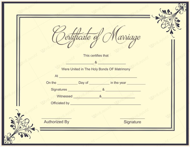 Ms Office Marriage Certificate Template u2013 Microsoft Office Samples - sample marriage certificate