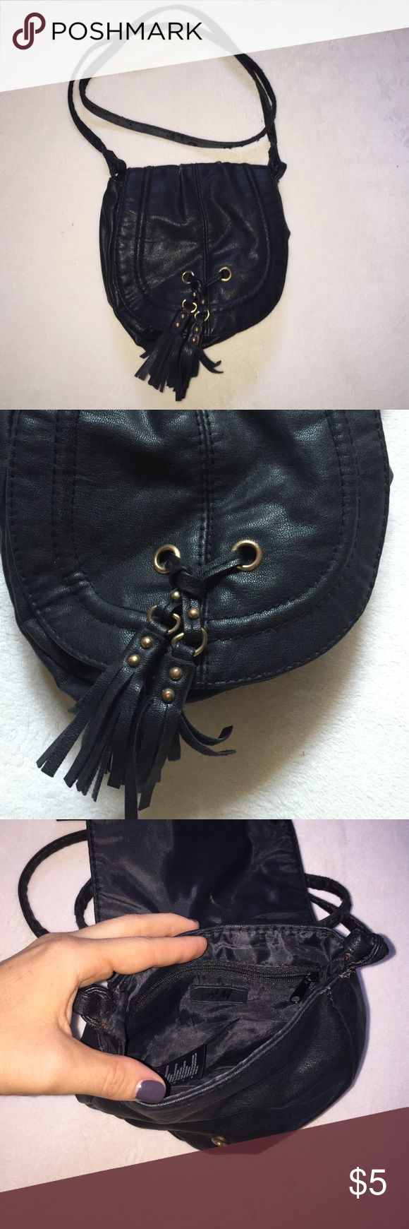 H&M purse Small boho black shoulder purse, wear and tear on the shoulder strap. H&M Bags Mini Bags