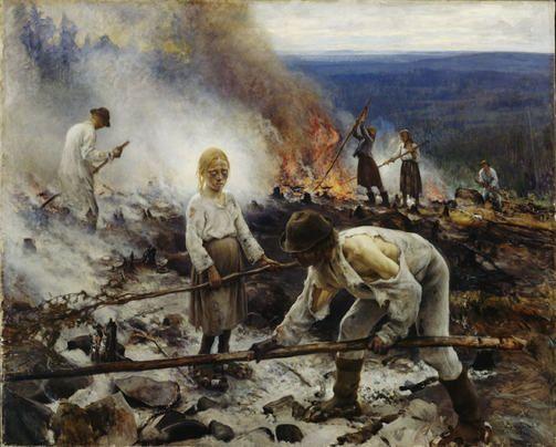 Eero Järnefelt: Raatajat rahanalaiset (Kaski) 1893