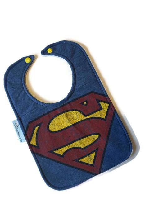 Superman Bib Superman Baby Bib Upcycled Tshirt Bib Baby Shower