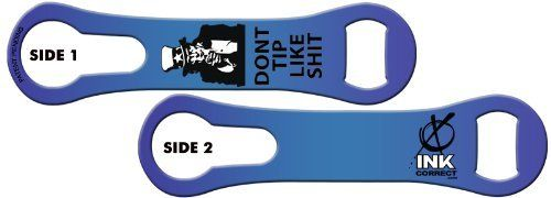 V-RODTM Bone Bottle Opener and Pour Spout Remover: Don't Tip Like Shit: Candy Blue by Ink Correct. $8.99. Bottle Opener & Pour Spout Remover  The revamped, sleek and multifunctional new version of the original Bartender's Bottle Opener, the V-RODTM Opener is the latest and greatest addition to our line of Killer Bartender Gear. The bone shaped design  features an ergonomic grip and an additional groove on the ring end that allows for the easy removal of pour spouts from bottl...