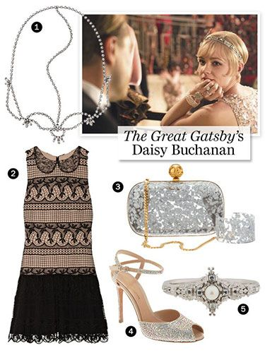 The Great Gatsby's Daisy Buchanan -    Baz Luhrmann's 2013 The Great Gatsby remake had us all reaching for our lace and pearls, and no, it's not time to put them away just yet. Revisit all that Daisy Buchanan hype with short hemlines and glimmering accessories.