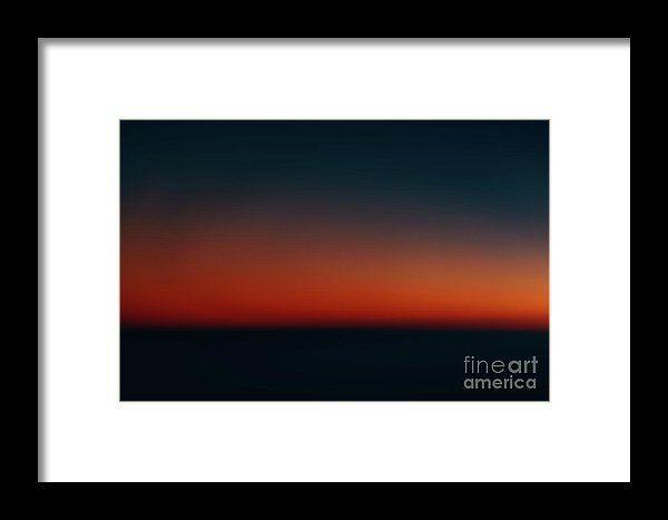 Aerial Photo Of Ocean Sunset Framed Print