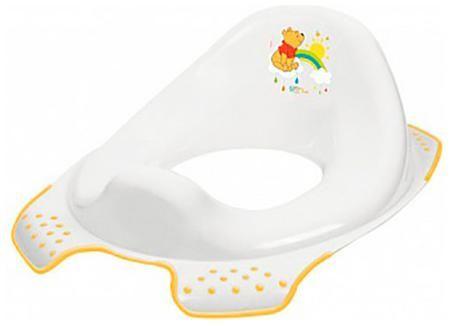 Окт Накладка на туалетокт disney 'винни пух', нескольз. (белый)  — 551р.  Рекомендуемый возраст: 2года Простые, безопасные и универсальные накладки на унитаз, облегчающие ребенку самостоятельное пользование туалетом.Благодаря инновационной форме сиденья для унитазов OKT кидс подходят для всех стандартных туалетов. Профилированная форма облегчает Малышу пользование туалетом, противоскользящие края стабильно укрепляют сиденье на унитазе. Цветные картинки с героями сказок Диснея и др. очень…