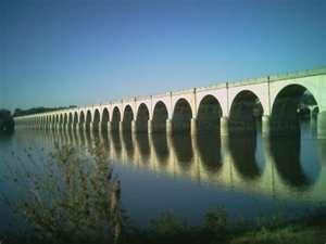 the longest stone arch bridge in the world!   Harrisburg, Pennsylvania
