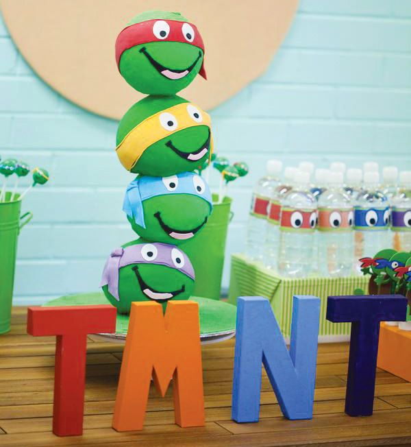 Bodacious Teenage Mutant Ninja Turtles Birthday Party // Hostess with the Mostess®: The amazing 4 tiered cake