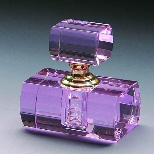purple perfume bottle