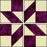 shooting star quilt block pattern | ... the block s four quadrants and it s done this quilt is three blocks by
