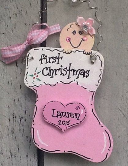 First christmas stocking ornament first by Angelascreativecraft