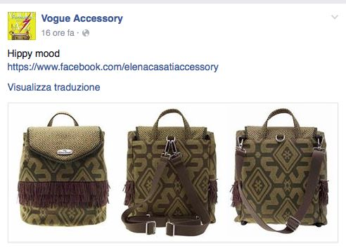"ZAINO ""HIPPY"" PER VOGUE ACCESSORY <3"