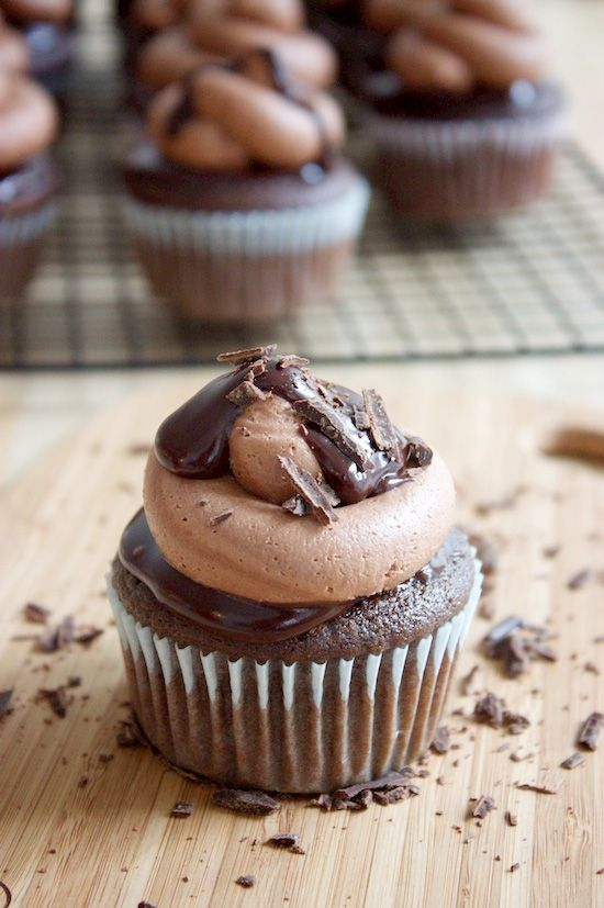 Triple Chocolate Cupcakes - Cupcake Daily Blog - Best Cupcake Recipes .. one happy bite at a time!