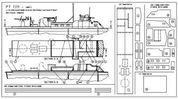 pt boat plans sheet two