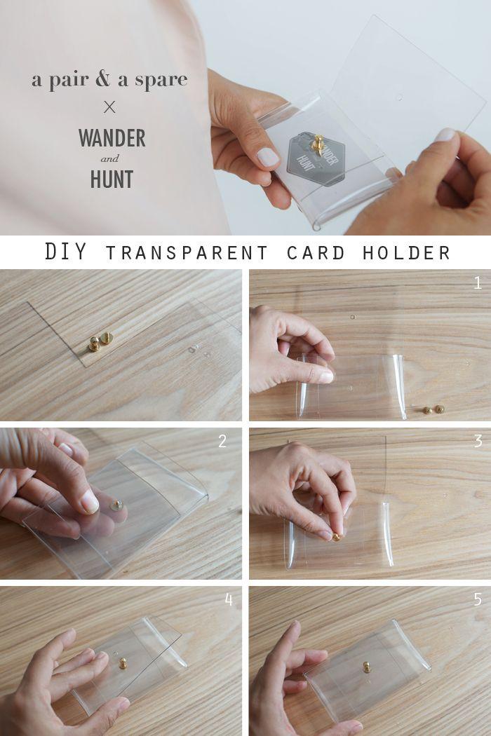 DIY Transparent Card Holder | Wander & Hunt