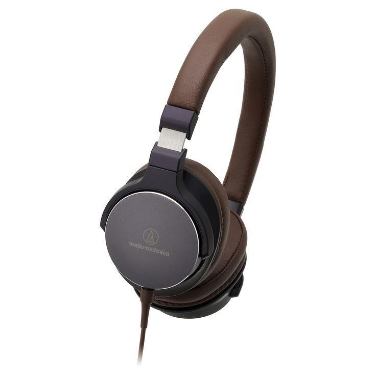 Audio Technica On-Ear High-Resolution Audio Headphones - Navy (Blue)